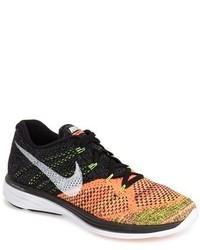 Black and Orange Athletic Shoes