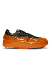 424 Black And Orange Dipped Sneakers