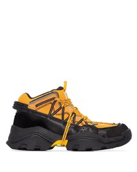 Kenzo Orange Inka Hiking Style Sneakers
