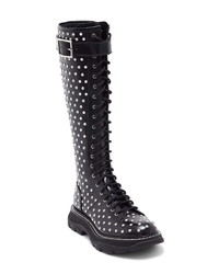 Alexander McQueen Studded Lace Up Tall Boot