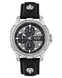 Versus Versace Sixth Arrondisset Chronograph Leather Watch