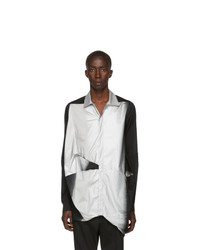 Black and Silver Long Sleeve Shirt