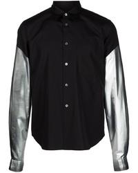 Comme Des Garcons Homme Plus Comme Des Garons Homme Plus Contrasting Sleeve Cotton Shirt