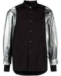 Comme Des Garcons Homme Plus Comme Des Garons Homme Plus Panelled Sleeve Cotton Shirt