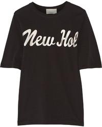 3.1 Phillip Lim Foiled Cotton Jersey T Shirt