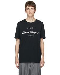 Salvatore Ferragamo Black 1927 Logo T Shirt