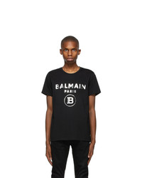 Balmain Black Foil T Shirt