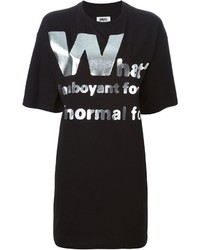 Mm6 maison margiela metallic letter appliqu t shirt medium 337667