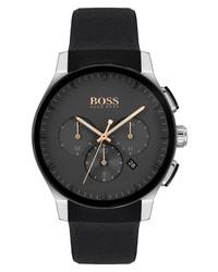 BOSS Peak Chronograph Silicone Watch