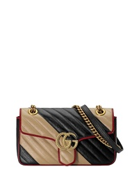 Black and Tan Leather Crossbody Bag