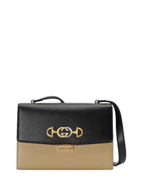 Gucci Small Zumi Two Tone Leather Shoulder Bag