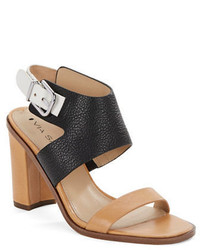 Via Spiga Belia Leather Colorblock Sandals
