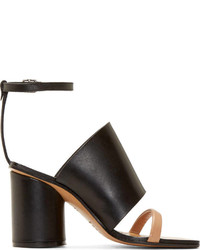 Maison Margiela Black Heeled Sandals