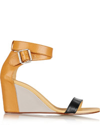 Maison Martin Margiela Mm6 Maison Margiela Color Block Leather Wedge Sandals