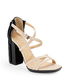 Reed Krakoff Leather Colorblock Strappy Sandals