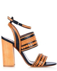 Tabitha Simmons Shwood Block Heel Leather Sandals