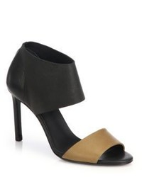 Vince Stephanie Two Tone Leather Sandals