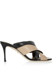 Sergio Rossi Two Tone Leather Sandals