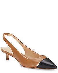 AERIN Padima Leather Slingback Kitten Heels