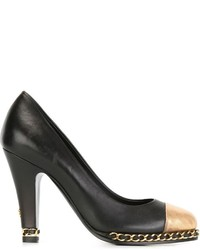 Chanel Vintage Contrasted Toe Cap Pumps