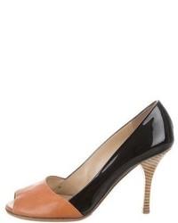 Leather peep toe pumps medium 4273705