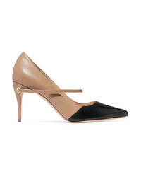 Jennifer Chamandi Lorenzo Two Tone Leather Pumps