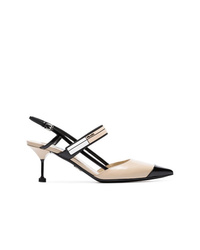 Prada Nude 65 Slingback Leather Pumps