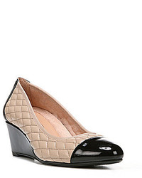 Naturalizer Qualify Quilted Cap Toe Wedge Pumps