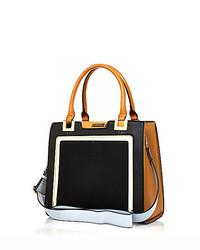 River Island Black Contrast Handle Structured Tote Handbag