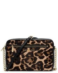 Michael Kors Michl Kors Jet Set Leopard Calf Hair Crossbody