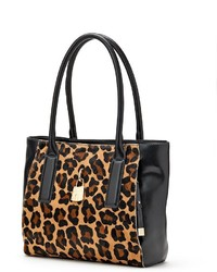 Dana Buchman Mini Paramount Leopard Leather Tote