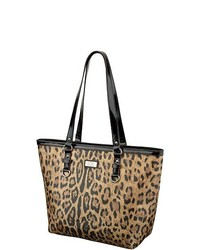 Nine & Co 9 Co Wild Mannered Leopard Print Tote