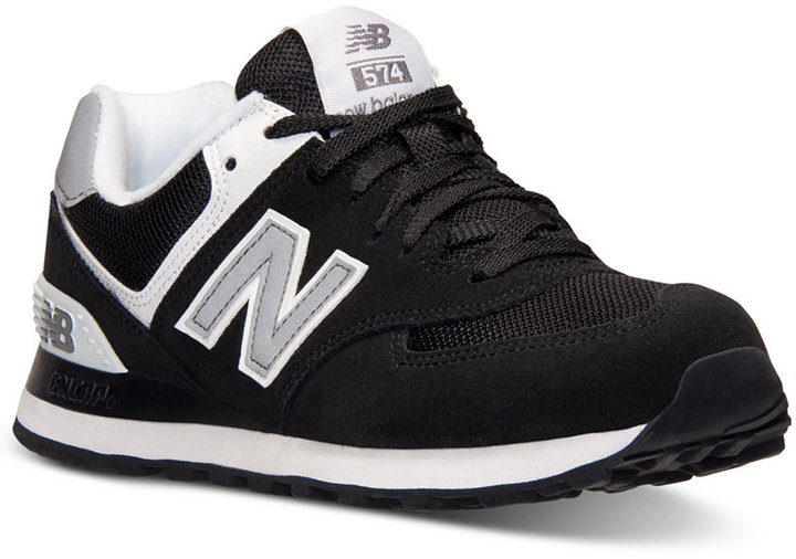 03055efb6b1 574 Casual Sneakers From Finish Line. Black and White Athletic Shoes by New  Balance