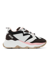 MSGM Black And Grey Attack Sneakers
