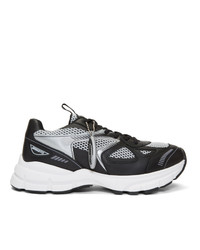 Axel Arigato Black And Silver Marathon Sneakers