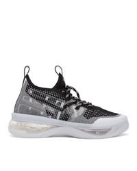 Valentino Black And White Garavani Cloudknit Air Sneakers