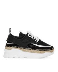 Kenzo Black And White K Lastic Espadrille Sneakers