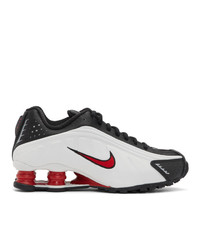 Nike Black And White Shox R4 Sneakers