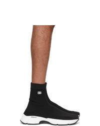 Balenciaga Black And White Speed 30 Sneakers