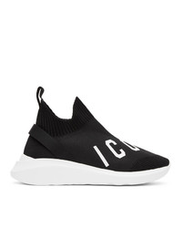 DSQUARED2 Black And White Speedster Sneakers