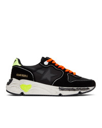 Golden Goose Black And Yellow Running Sole Sneakers