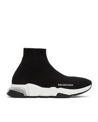 Balenciaga Black Clear Sole Speed Sneakers
