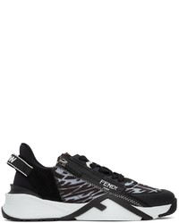 Fendi Black Ff Vertigo Flow Low Top Sneakers