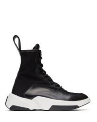 Julius Black Lace Up Sneaker Boots
