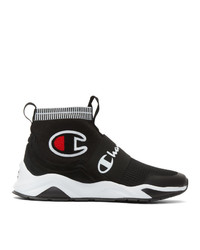 Champion Reverse Weave Black Rally Pro High Top Sneakers