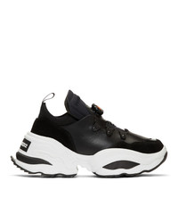 DSQUARED2 Black Rolling Giant Sneakers