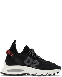 DSQUARED2 Black Run Ds2 Logo Sneakers