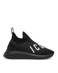 DSQUARED2 Black Speedster Low Top Sneakers