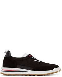 Thom Browne Black Tech Runner Low Sneakers