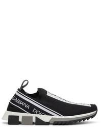 Dolce & Gabbana Black White Sorrento Sneakers